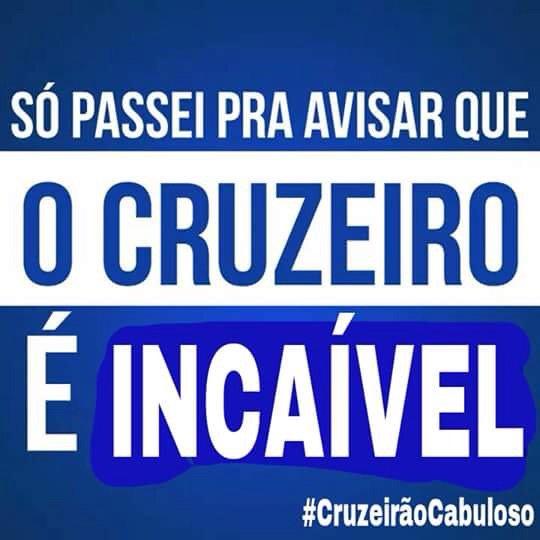 HOJE É DIA DE CRUZEIRO