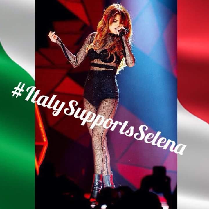 #ItalySupportsSelena