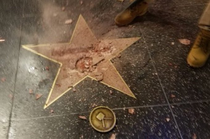 Donald Trump's Walk of Fame star destroyed by a vandal; LAPD is investigating https://t.co/uryvaT9BxS