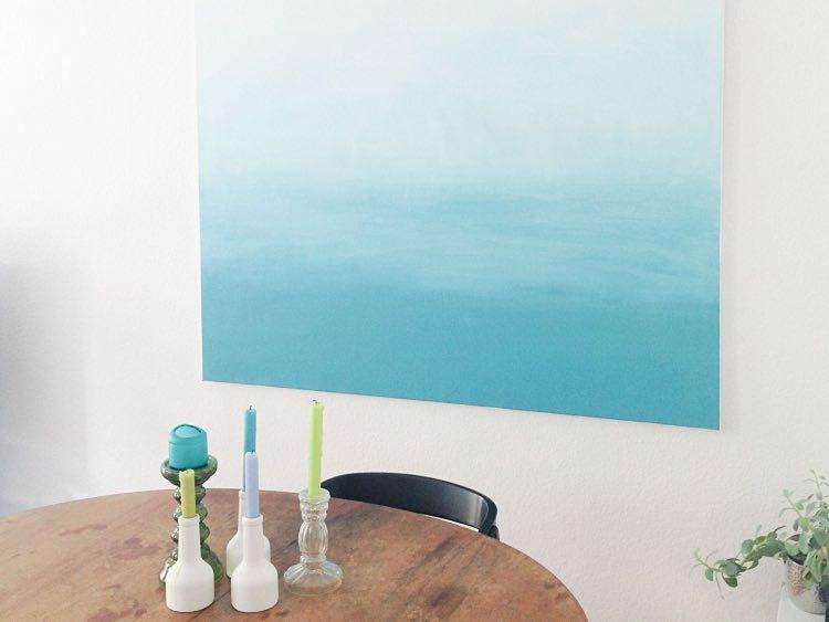 Tutoriales DIY: Cómo pintar un cuadro en degradé vía DaWanda.com