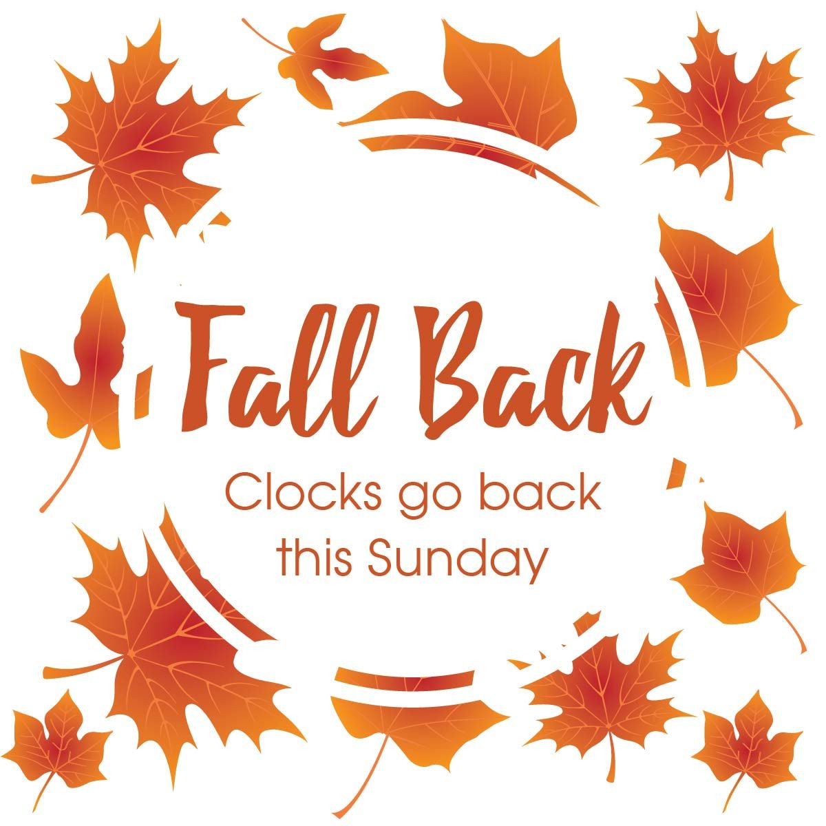 Reminder - The clocks go back one hour this Sunday #daylightsavings https://t.co/f8vtyw7cVx