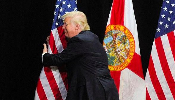 Gloria Allred and this flag will be holding a press conference later today... https://t.co/uXmoEU3Dzv