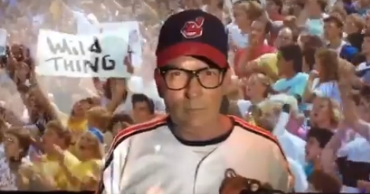 Charlie Sheen donned his Ricky Vaughn 'Major League' uniform for World Series
