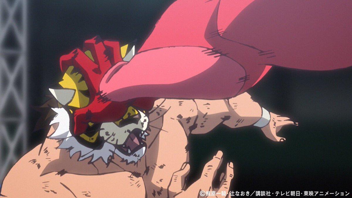 アニメ「タイガーマスクW」第4話を配信開始!謎のマスクマン・レッドデスマスクとヤングライオン若松龍の前哨戦がスタート‼︎