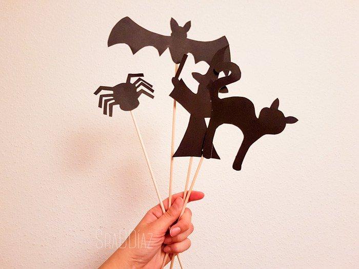 Marionetas para un teatro de sombras #diy#halloween