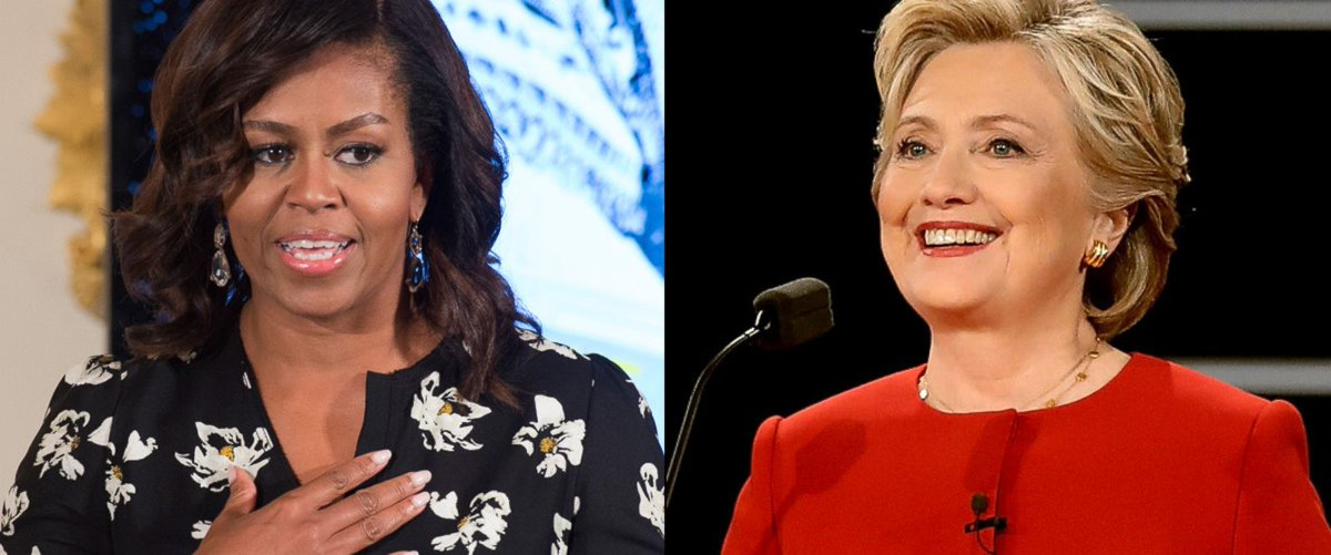 First Lady Michelle Obama campaigns with Hillary Clinton for first time: