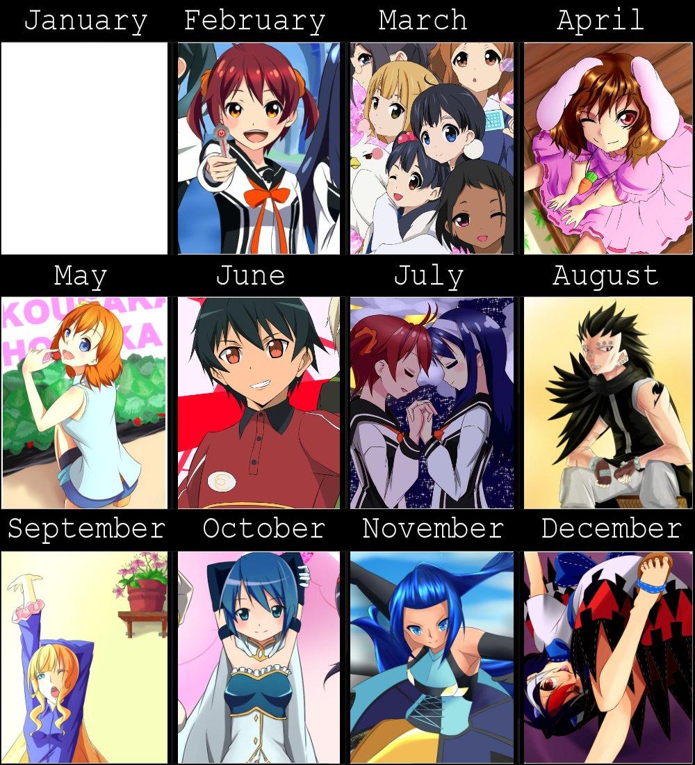 2013 なぜか1月が存在しない。忙しかったのか?2012の夏からアニメを見始めここら辺からアニメ視聴数がグンとあがり始