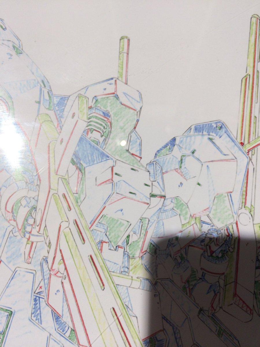 アニメ原画?の線画のユーゴーかっこいい #ガンプラ #ガンダム #g_tekketsu