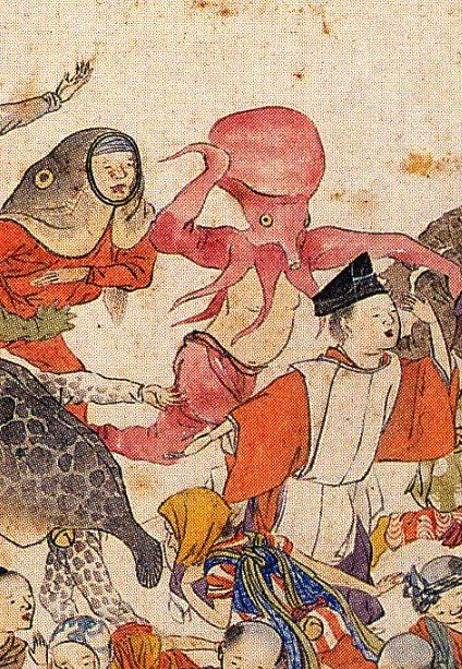 江戸時代、日本にもハロウィンのような仮装文化があったのは理解できる。でも、まさかタコや魚や大根に仮装してたなんて……想定外。