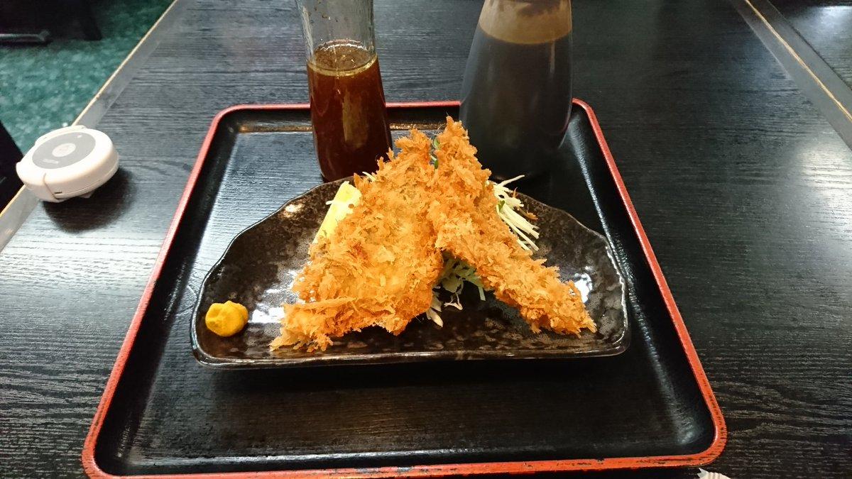 スタンプラリー23軒目寿徳庵 追浜店:シロちゃんのヒラメフライあっさりしていて、美味しい❗#はいふり