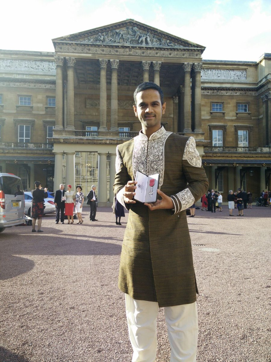 Picked up my MBE at Buckingham Palace today! https://t.co/MeKOJMzv2y