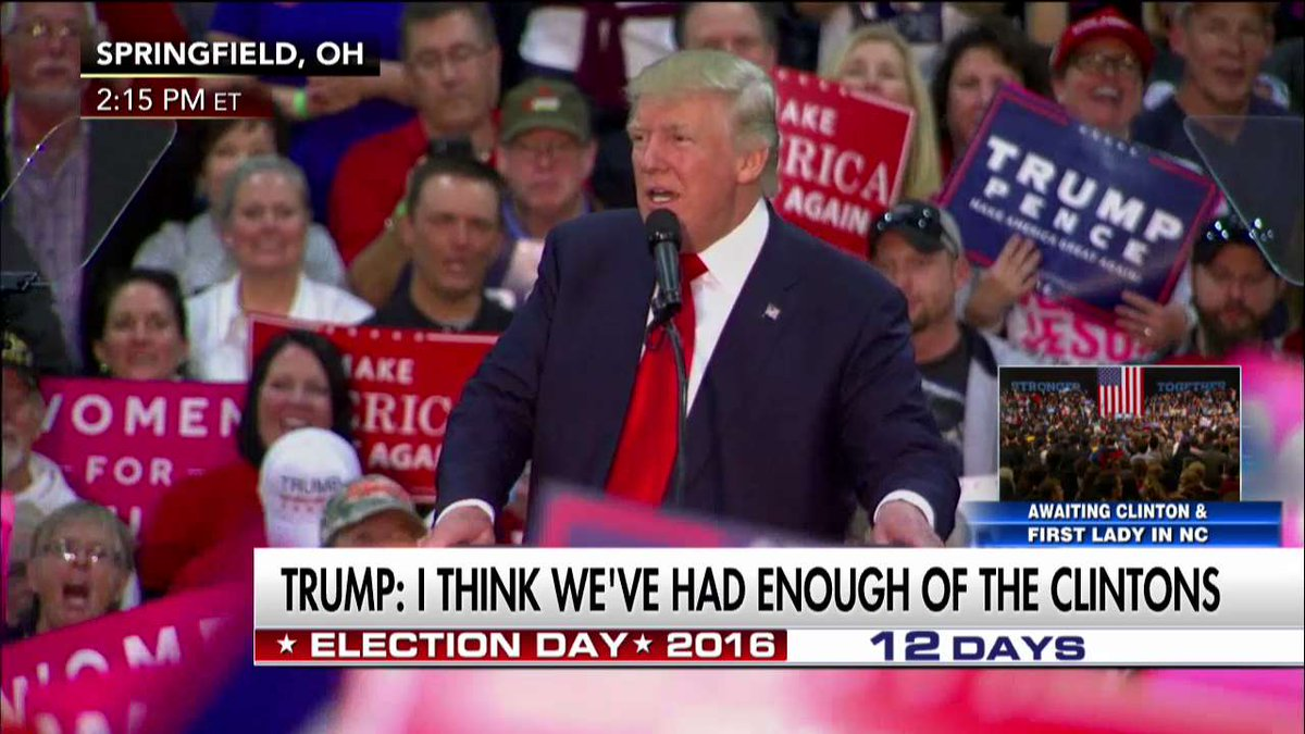 """.@realDonaldTrump """"When we win we are going to Washington, D.C., and we are going to drain the swamp."""""""