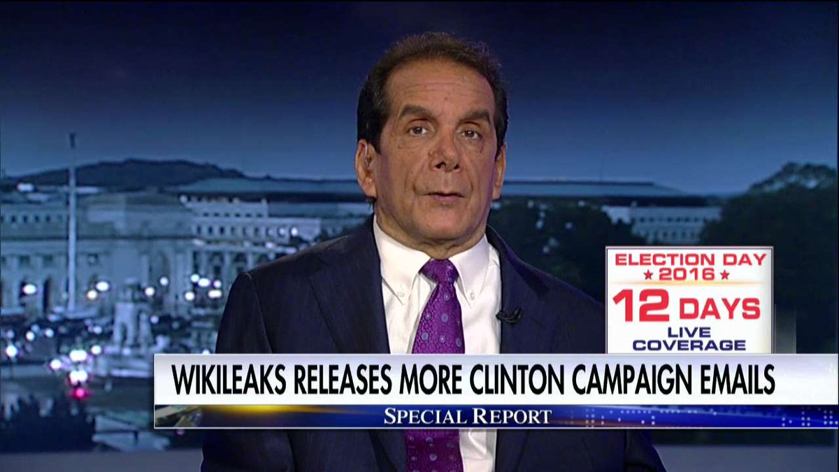 .@krauthammer: Hillary Used Private Email to Hide 'Rank Corruption' of Clinton Foundation @SpecialReport @BretBaier https://t.co/raLEEeMhxK