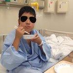最後の病院食もりもり食べてる(笑)もやしとピーマン苦いヽ(;▽;)ノ12歳なのにおっさん感超出てるな(笑)食べたら私服に