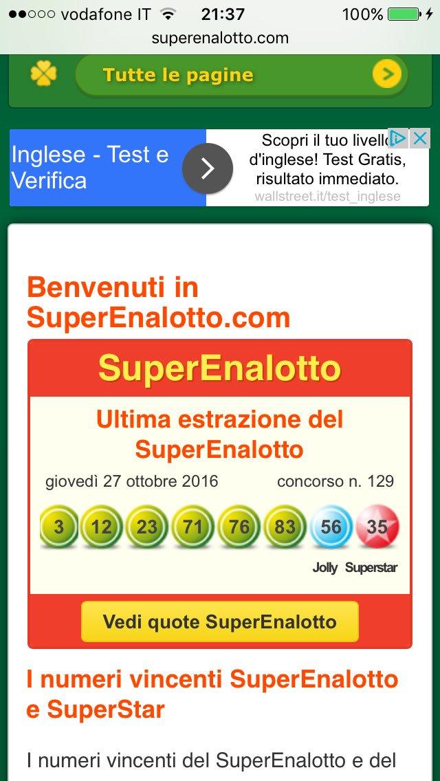 #SuperEnalotto