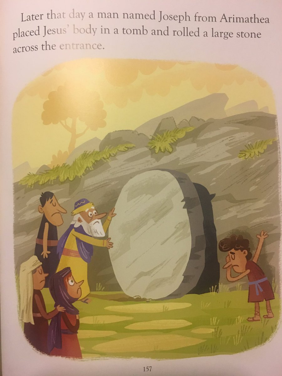 My little boy just asked me 'daddy, why is that man doing the DAB in the Jesus story!