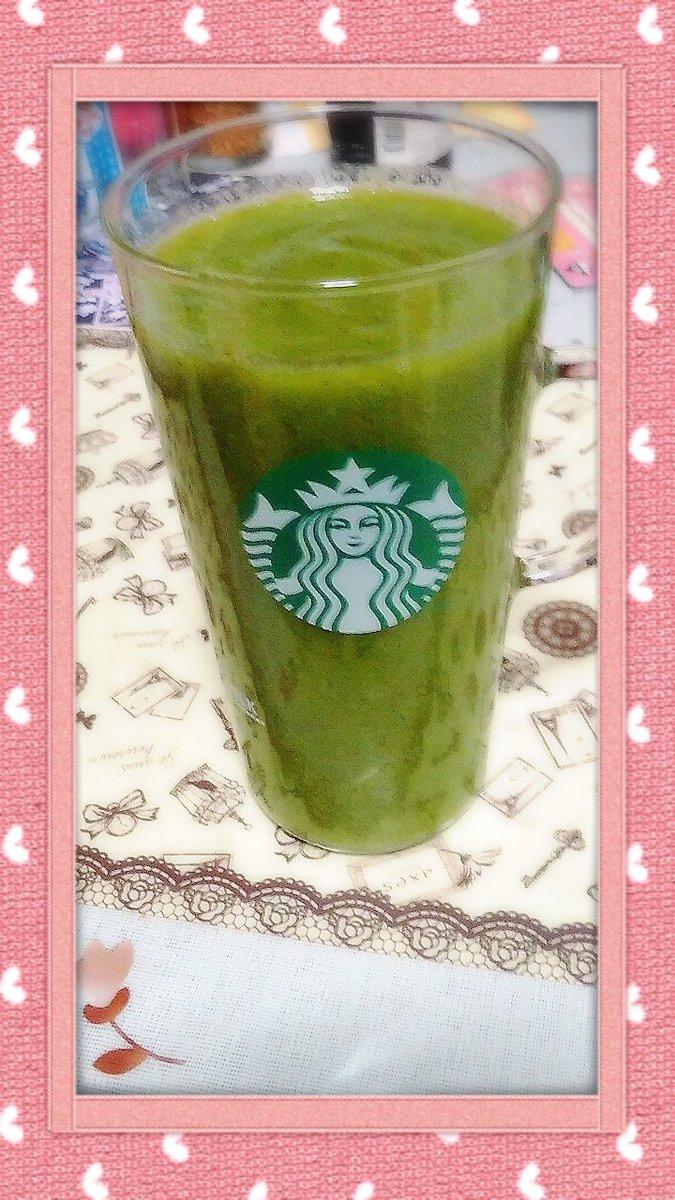 朝食~(´ω`) 痩せるための、手作りグリーンスムージー(´ω`) 酵素と、食物繊維たっぷり(´ω`) https://t.co/69fXOq4Q20