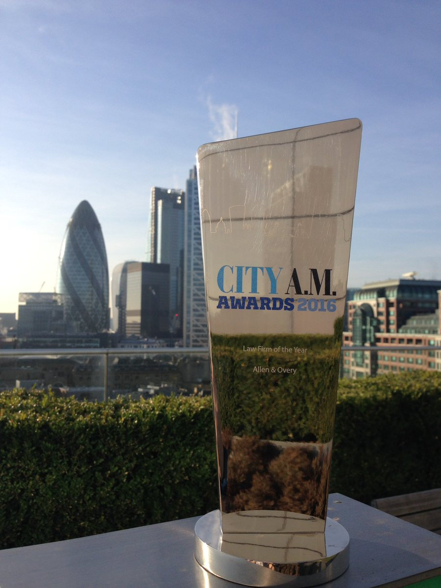 We are delighted to have won Law Firm of the Year at the @CityAM Awards 2016. Congratulations to all the winners. https://t.co/jVreOWRsjE