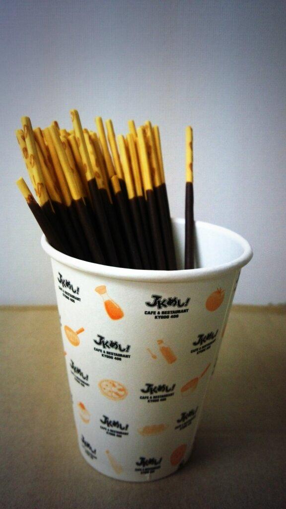 #ポッキーフォト#ポッキーの日 #JKめしJKめし紙コップはポッキーを盛り付けるのに最適☆もちろんJKめし用にも!(この