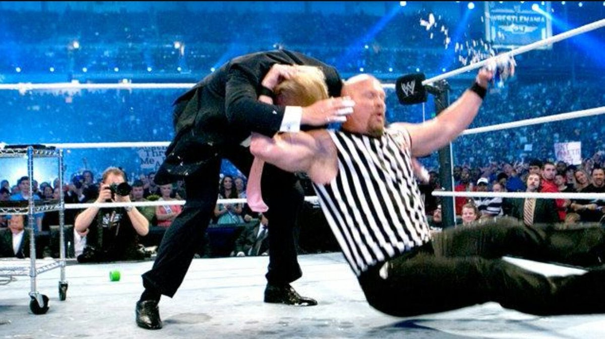 First president to receive a stone cold stunner ! https://t.co/GfMGKanzMN