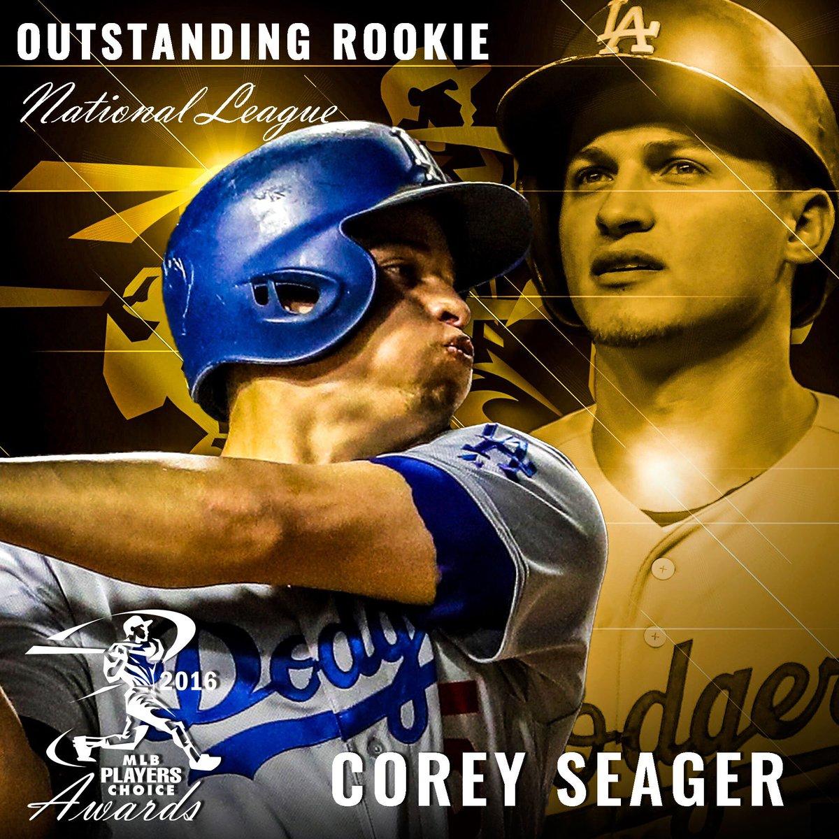 Welcome to @MLBTheShow! Congrats #PlayersChoiceAwards16 NL #OutstandingRookie @coreyseager_5 @Dodgers https://t.co/f4MJBiRHwU