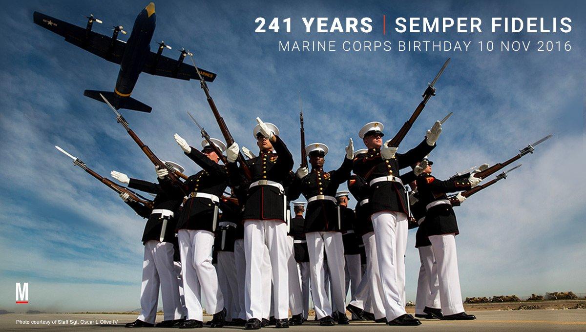Happy Birthday, Marines! @USMC https://t.co/5YD0G1nZWb