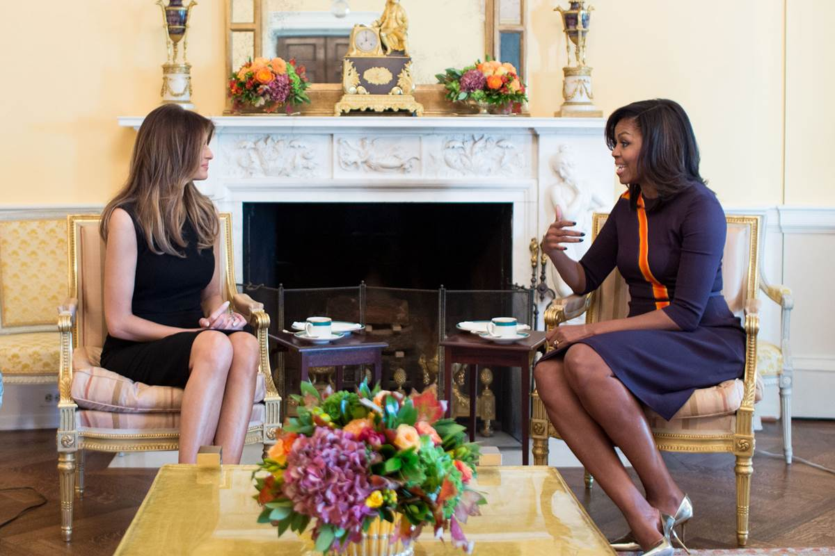 First Lady Michelle Obama meets with Melania Trump at the White House