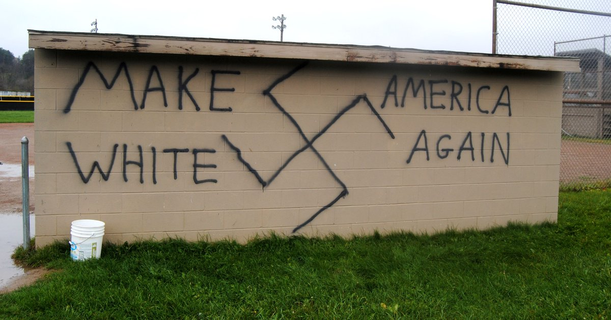 Racist graffiti greets Trump win across USA