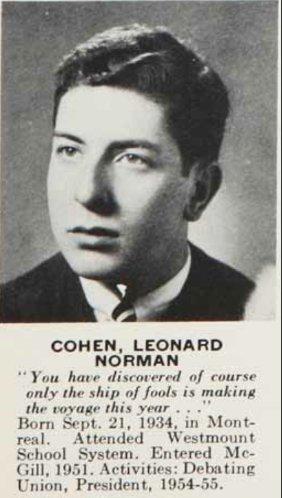 #RIP Legendary #McGill grad Leonard Cohen (BA'55, DLitt'92) https://t.co/A2IEjpM4ax