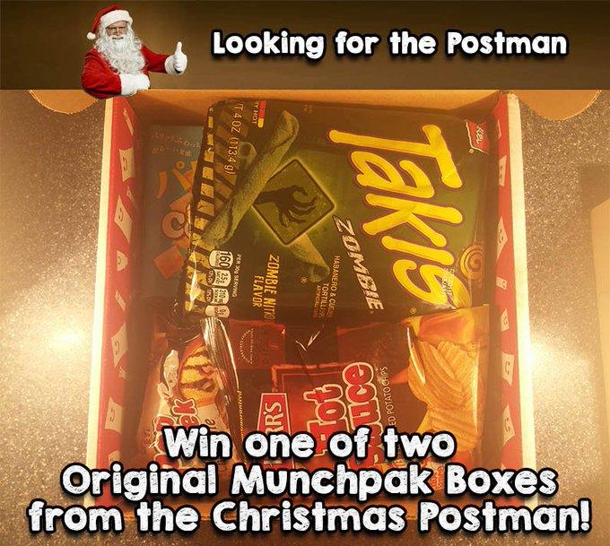 Win MunchPakSnacks from around the world!FreebieFriday ChristmasPostman