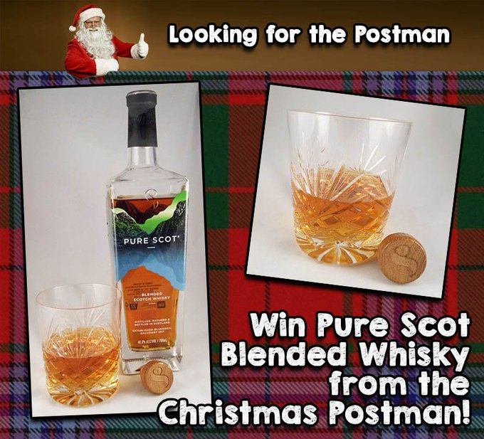 Win a bottle of ThePureScot whisky!  FreebieFriday ChristmasPostman
