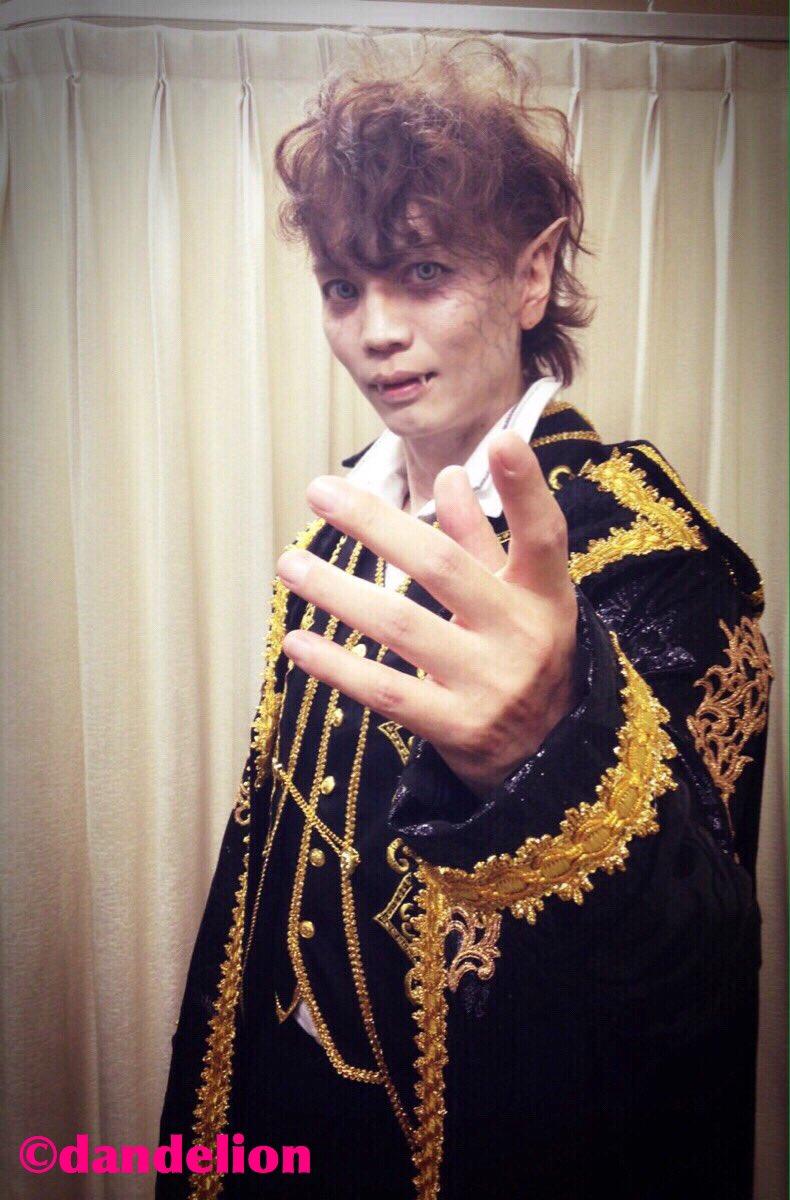 【浅沼晋太郎】「AD‐LIVE2016」夜の部での特殊造形は石野大雅さんです☆パンフでのワンコ浅沼くんも!お世話になりました そして、スタイリングは昼夜の部共に、ヨシダミホさん。いつもありがとうございます!(ダンデ2号) #ad_live   happy Halloween