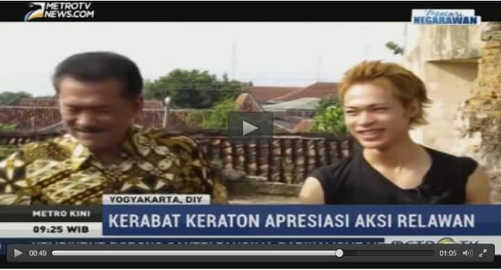上田君がインドネシアのローカルテレビに映っている!