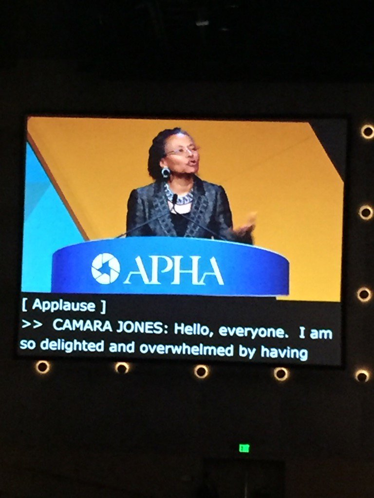 test Twitter Media - Launched our campaign against racism! Thank you @CamaraJones #APHA2016 https://t.co/fXcJ9CbL7C
