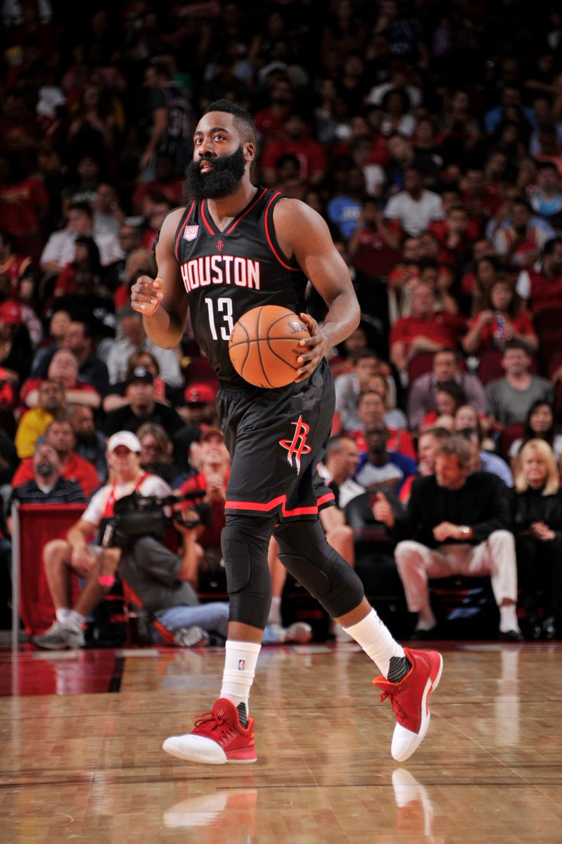 James harden finishes with 28 points in the adidas harden vol. 1