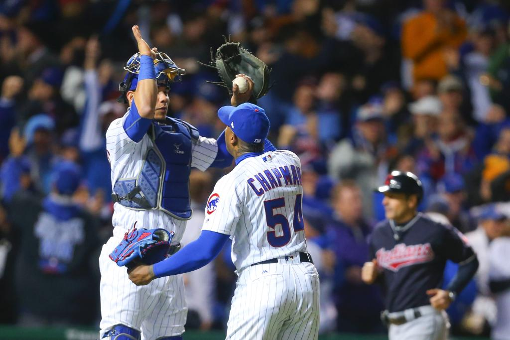 Cubs edge Indians, cut World Series deficit to 3-2