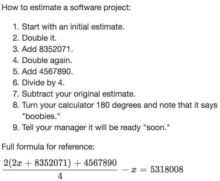 How to estimate a software project. https://t.co/67zX4InIj2