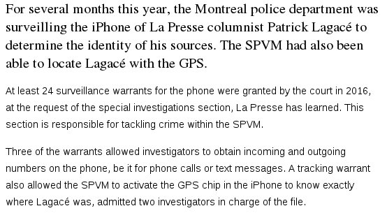 Are you a journalist? The police spying on you specifically to ID your sources isn't a hypothetical. This is today. https://t.co/6JtOIb7Q4n