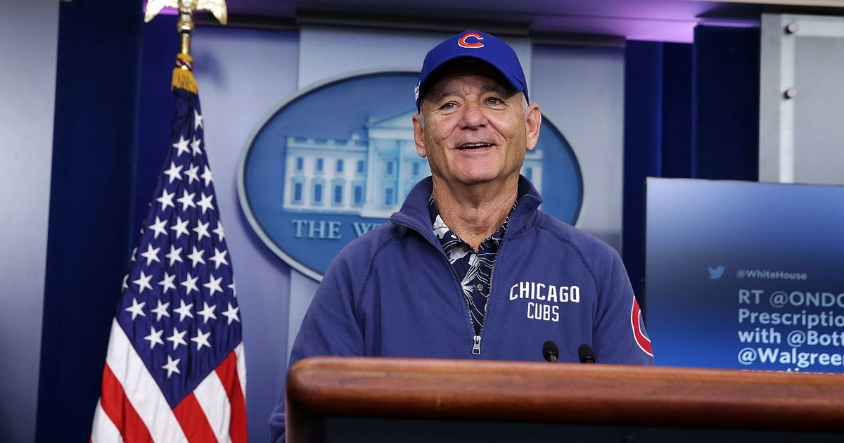 Bill Murray has the best reaction to the Cubs' World Series comeback