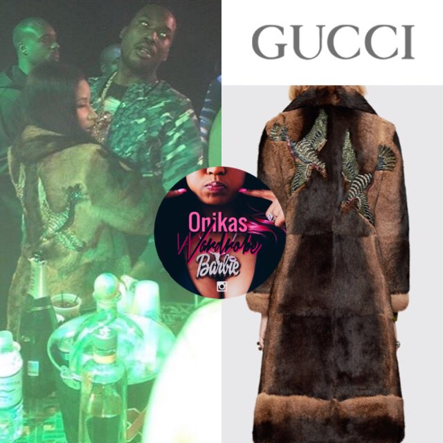 RT @OnikasWardrobe: Back view of @NICKIMINAJ 's $17,800 @gucci coat https://t.co/giB1k97ltw