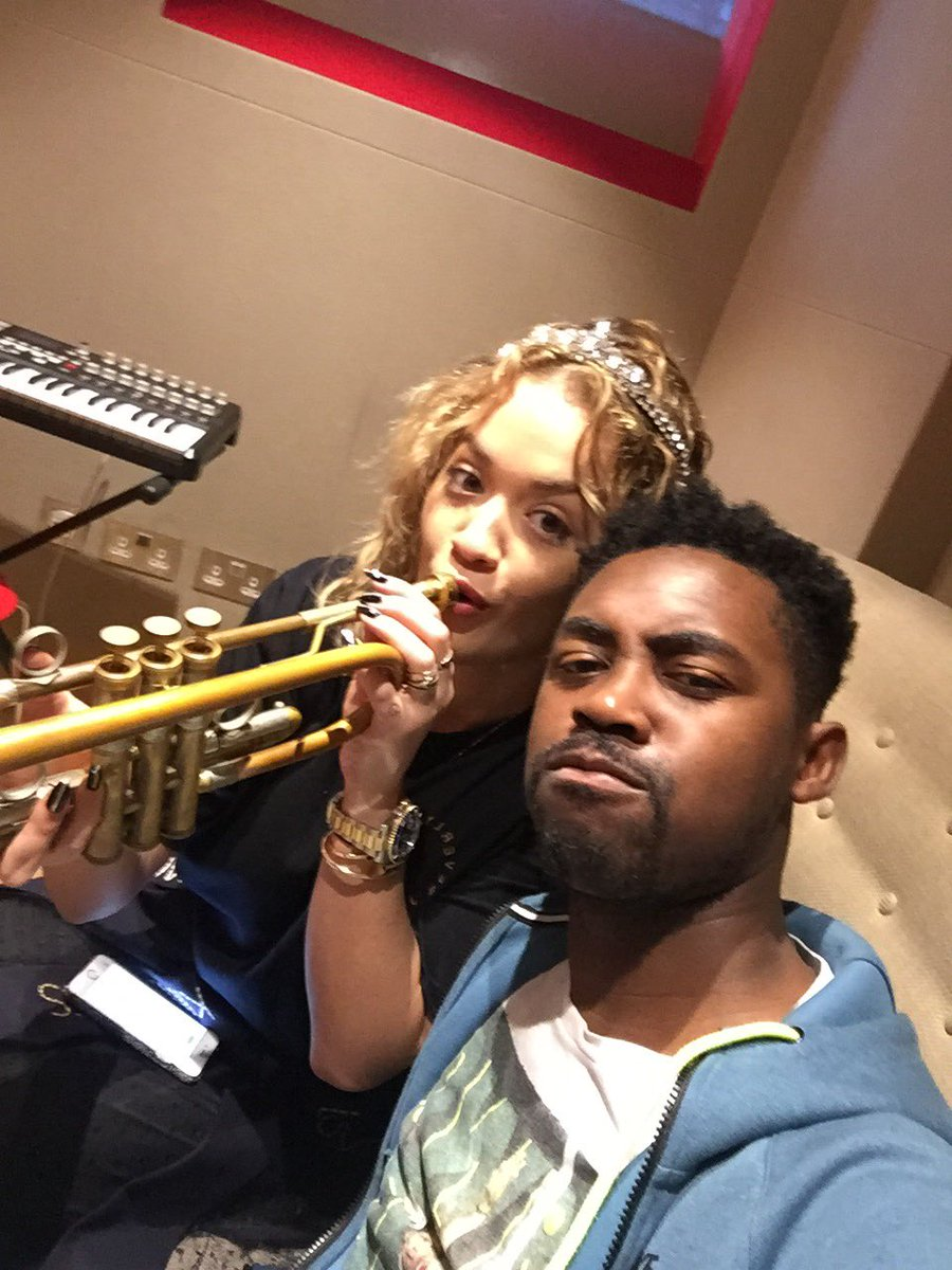 RT @kingcrowney: ???????? for @RitaOra today. #trumpets https://t.co/WMLJ6XPGoy