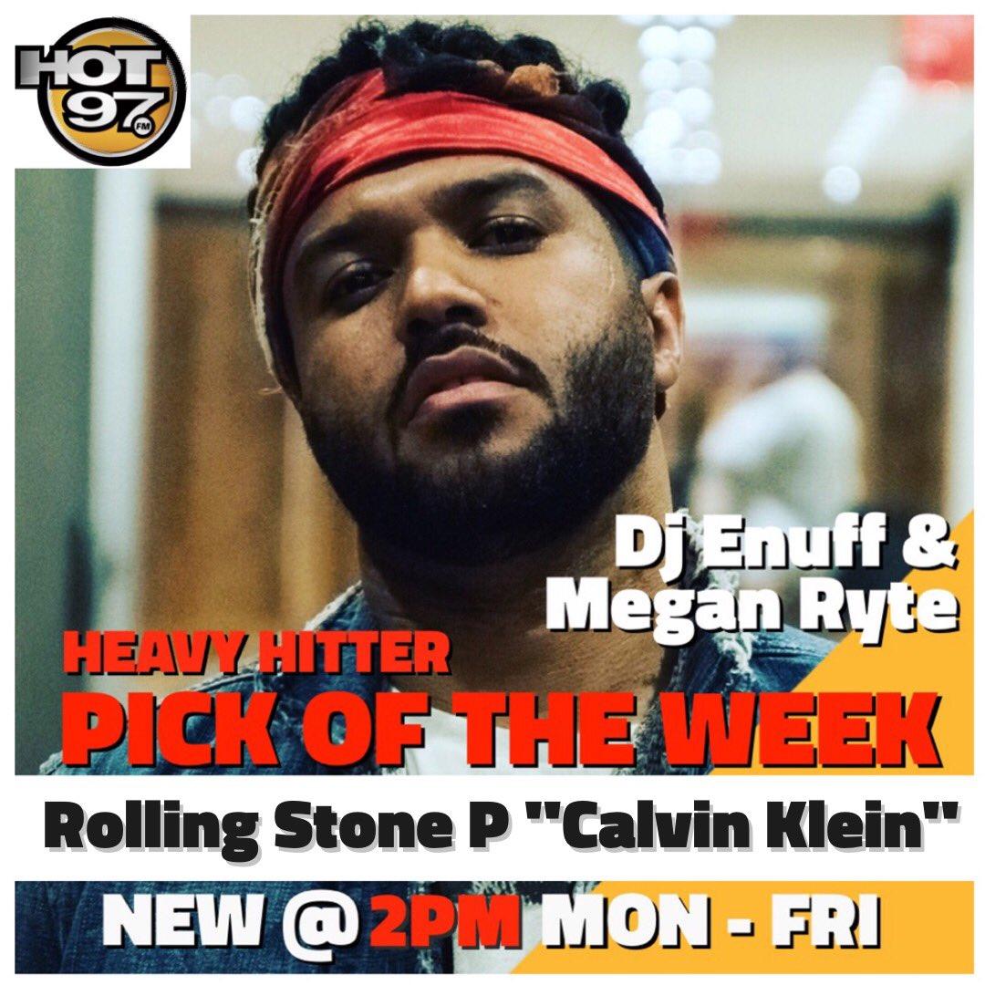 Tune in tri-state @djenuff @MeganRyte @HOT97 #heavyhitterpickoftheWeek