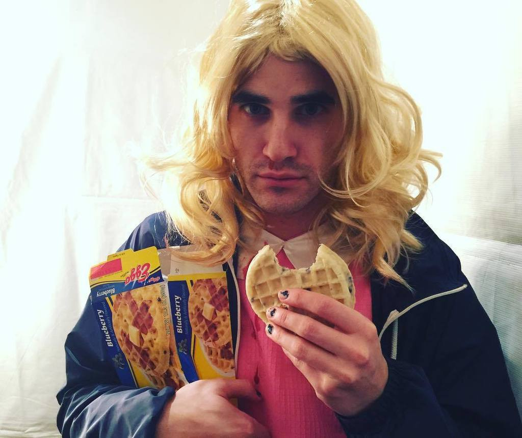 Our newly-crowned #WeHoHalloween King @darrencriss goes to Eleven.