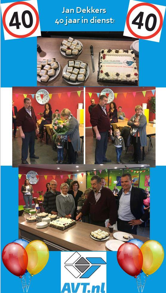 test Twitter Media - Vandaag Jan Dekkers #40jr in dienst bij #AVT.nl. Hoe bijzonder om iemand al zo lang in dienst te mogen hebben. Van harte! https://t.co/zvevceIBSk