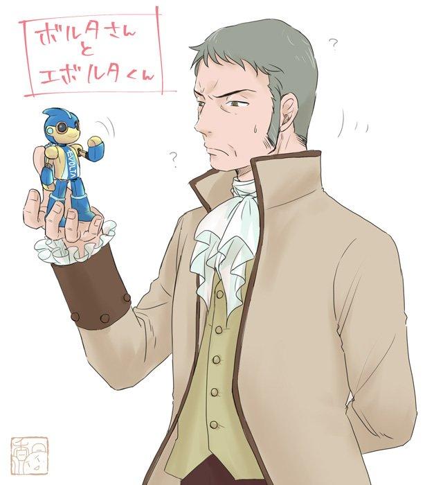 駒倉さんに熱烈お薦めされたマリワカを見終わったのでボルタさんとエボルタ君を描きました{{(*▽*)}}