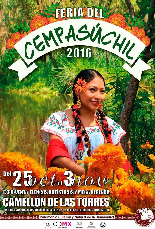"""Visita la """"Feria del Cempasúchil""""  en #Xochimilco hasta 3 Noviembre. #Agenda #DiaDeMuertos @TurismoCDMX https://t.co/ULDr85p2ze"""