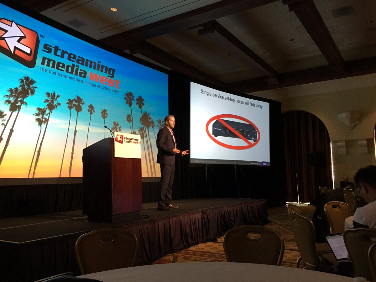 All TV eventually will be streamed, says @RokuPlayer's Steve Shannon #smwest https://t.co/055rn4DPTH