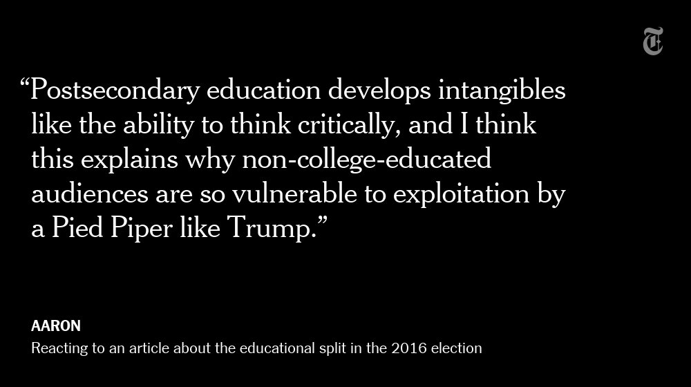 Why does education translate to less support for Donald Trump? Readers weigh in.