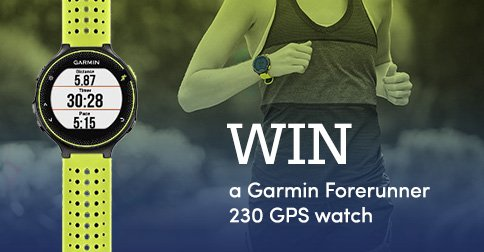 It's competition time! Win a Garmin GPS watch in our prize giveaway. Click to enter .