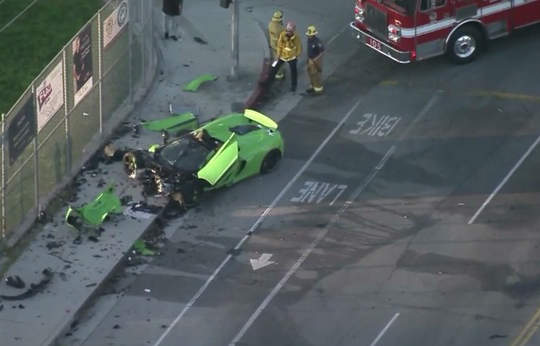 McLaren sports car completely demolished in Southern California crash